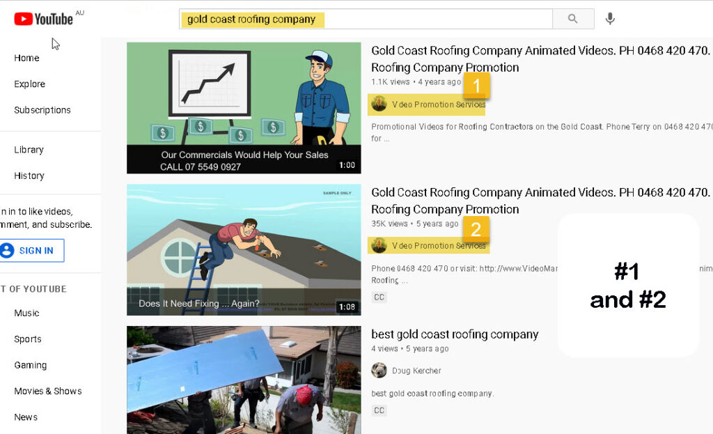 How to Get Videos Ranked - gold coast roofing company